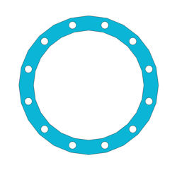 """Picture of 1/16"""" Thick G3000 Full Face Gasket"""