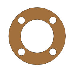 "Picture of 1/16"" Thick Gylon 3500 Full Face Gasket"