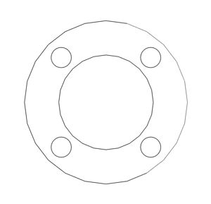 """Picture of 1/16"""" Thick Expanded PTFE Full Face Gasket"""