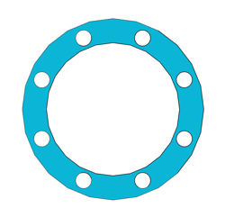 "Picture of 1/16"" Thick Gylon 3504 Full Face Gasket"