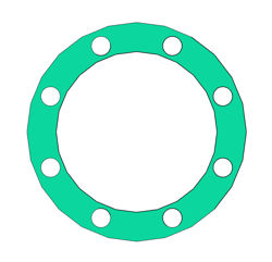 "Picture of 1/8"" Thick CNA750 Full Face Gasket"