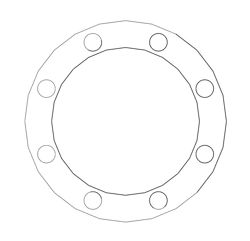 "Picture of 1/16"" Thick Expanded PTFE Full Face Gasket"