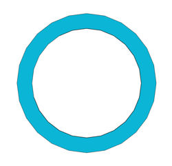 "Picture of 1/8"" Thick G3000 Ring Gasket"