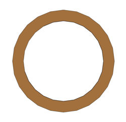 "Picture of 1/16"" Thick Gylon 3500 Ring Gasket"