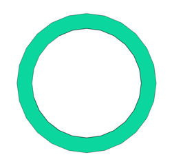 "Picture of 1/8"" Thick CNA750 Ring Gasket"