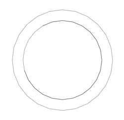 "Picture of 1/8"" Thick Expanded PTFE Ring Gasket"